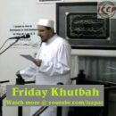 ICCP Friday Khutbah 02/01/2013